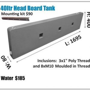 40 liter head board tank with mounting kit for all types of motor homes
