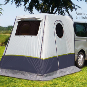 Rear tent with rear wall for campervan