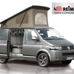 Rear tent of campervan with foot space