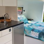 Envy2 bed and kitchen